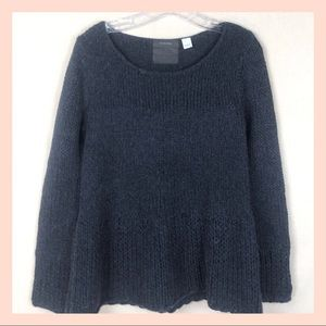 GUINEVERE wool blend knit gray sweater size Large